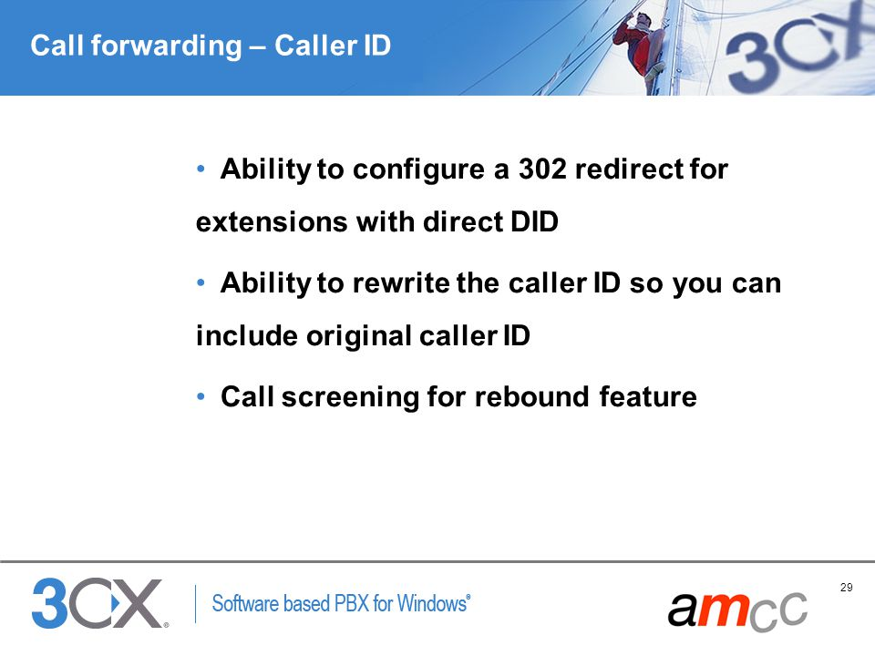 Call forwarding – Caller ID