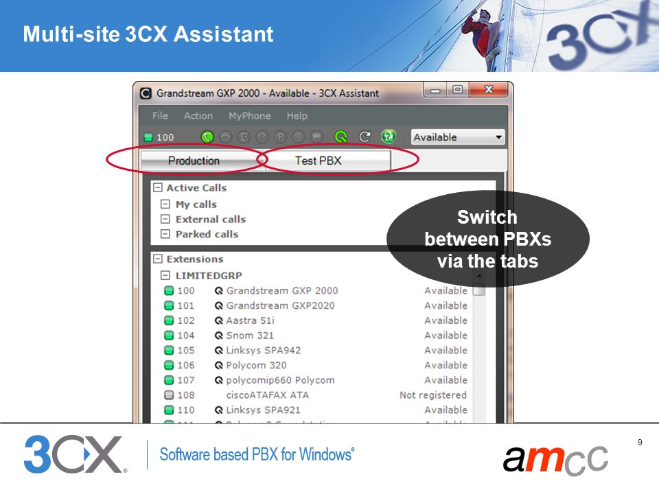 Multi-site 3CX Assistant