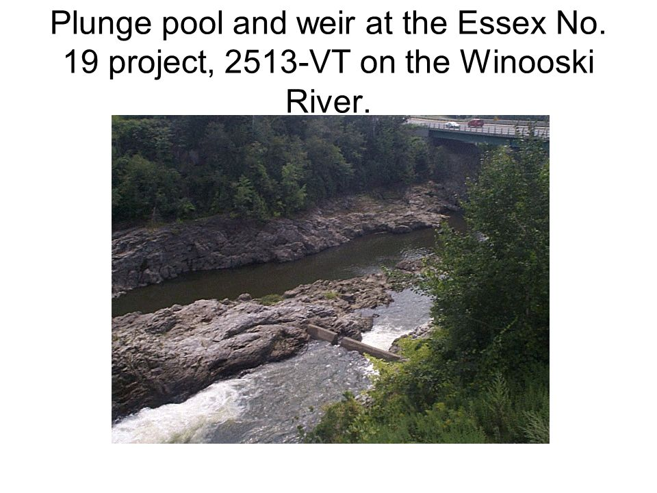 Plunge pool and weir at the Essex No