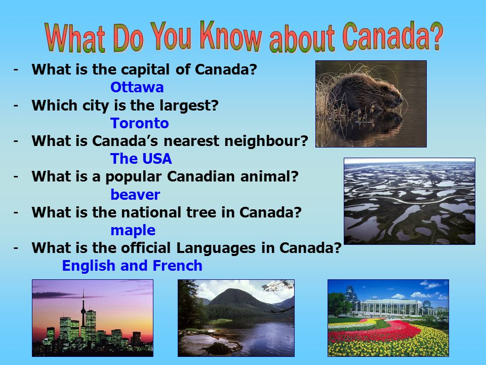 What Do You Know about Canada