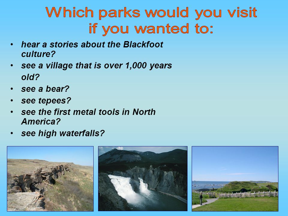 Which parks would you visit