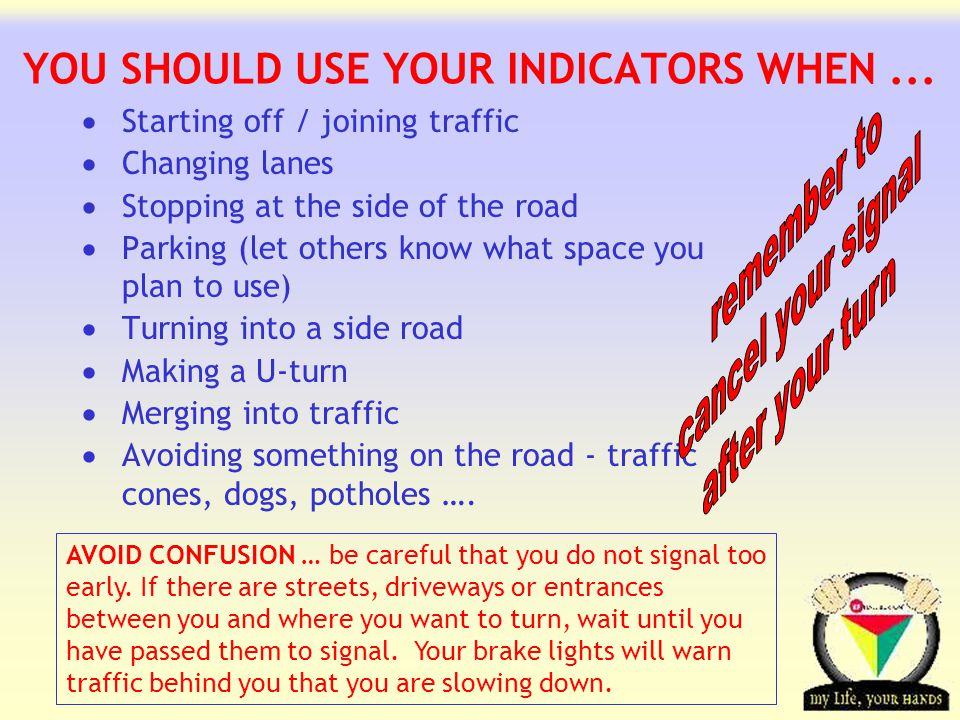 YOU SHOULD USE YOUR INDICATORS WHEN ...