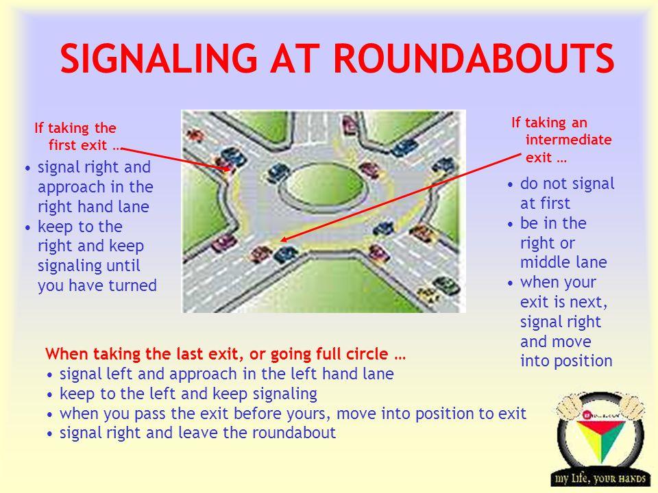 SIGNALING AT ROUNDABOUTS