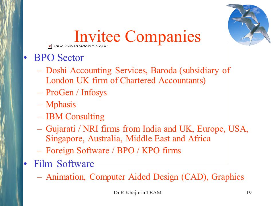 Invitee Companies BPO Sector Film Software