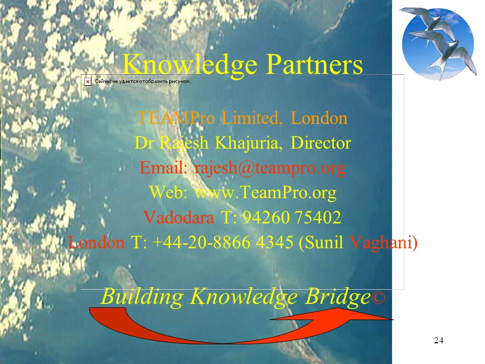 Knowledge Partners Building Knowledge Bridge© TEAMPro Limited, London