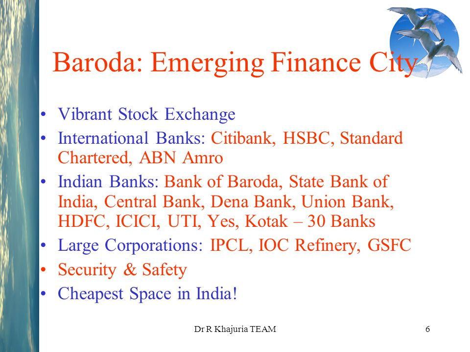 Baroda: Emerging Finance City