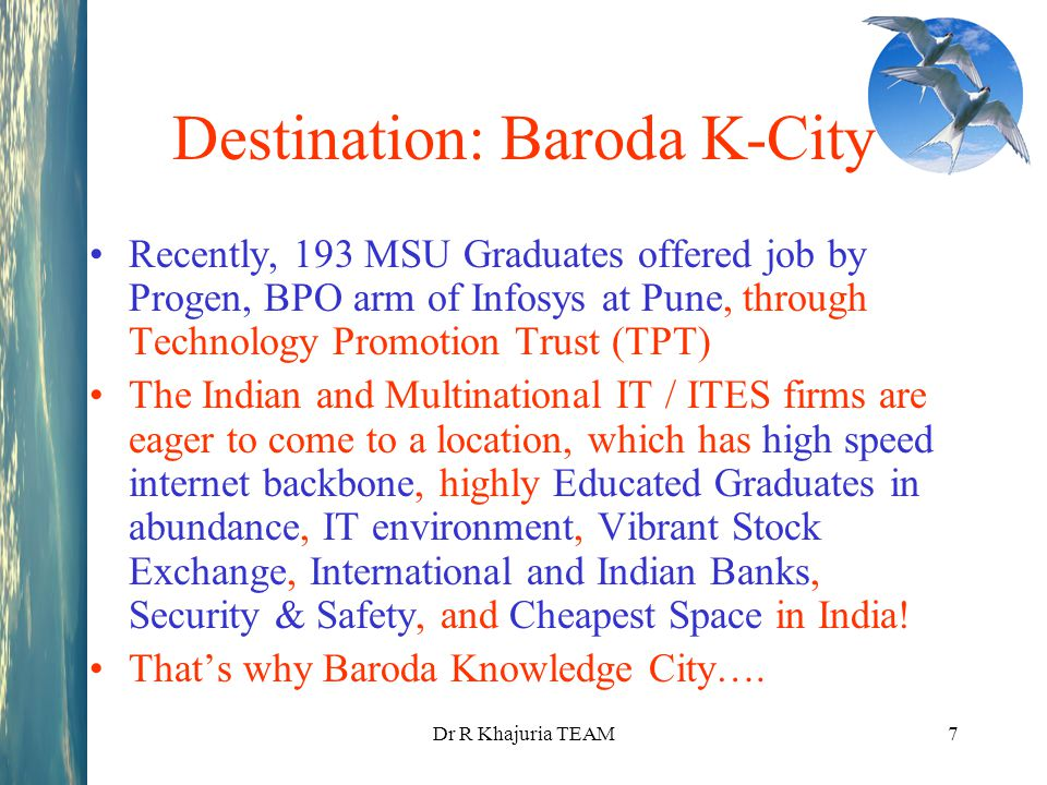 Destination: Baroda K-City