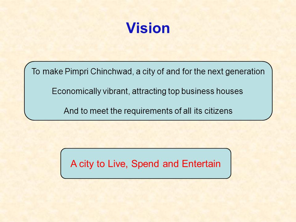 Vision A city to Live, Spend and Entertain