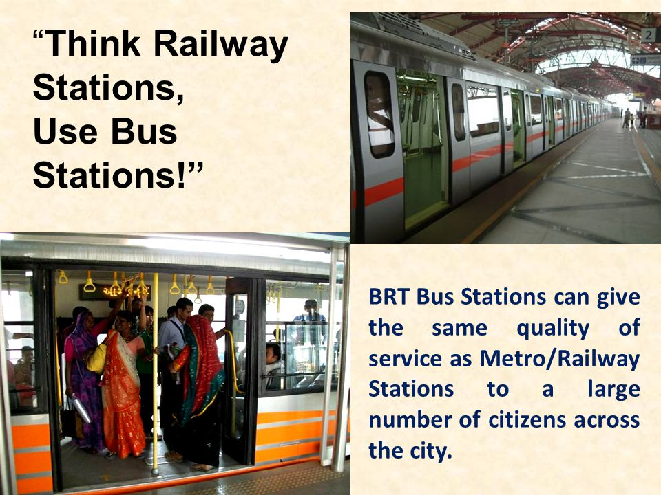 Think Railway Stations, Use Bus Stations!