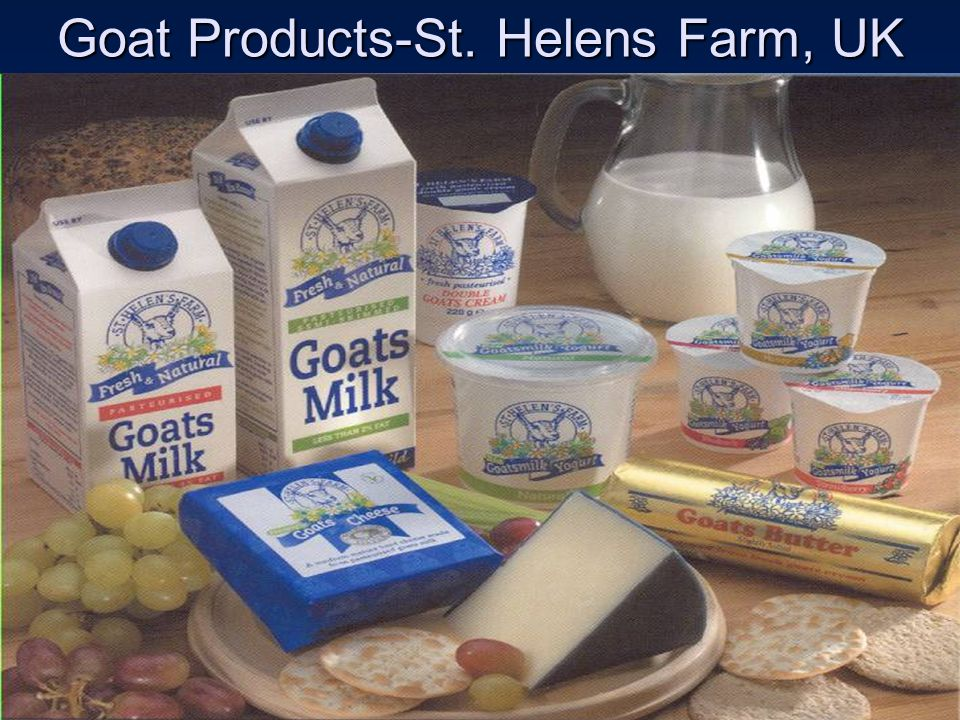 Goat Products-St. Helens Farm, UK
