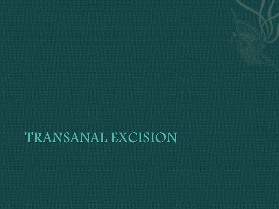 Transanal Excision