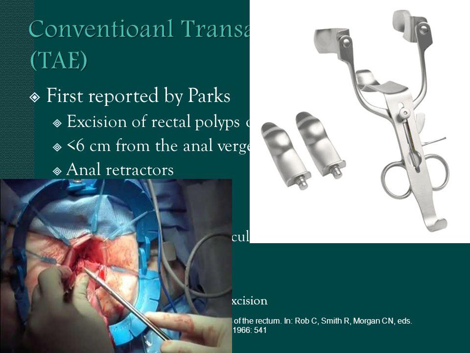 Conventioanl Transanal Excision (TAE)