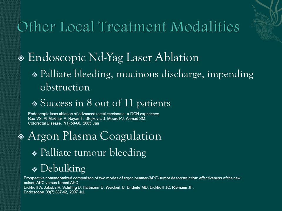 Other Local Treatment Modalities