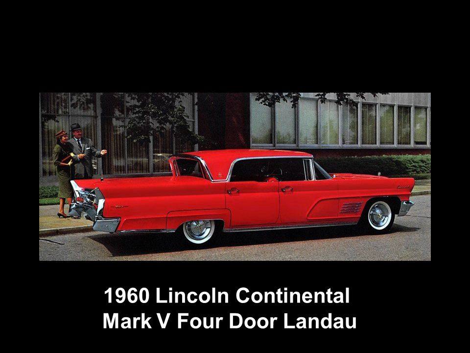 1960 Lincoln Continental Mark V Four Door Landau