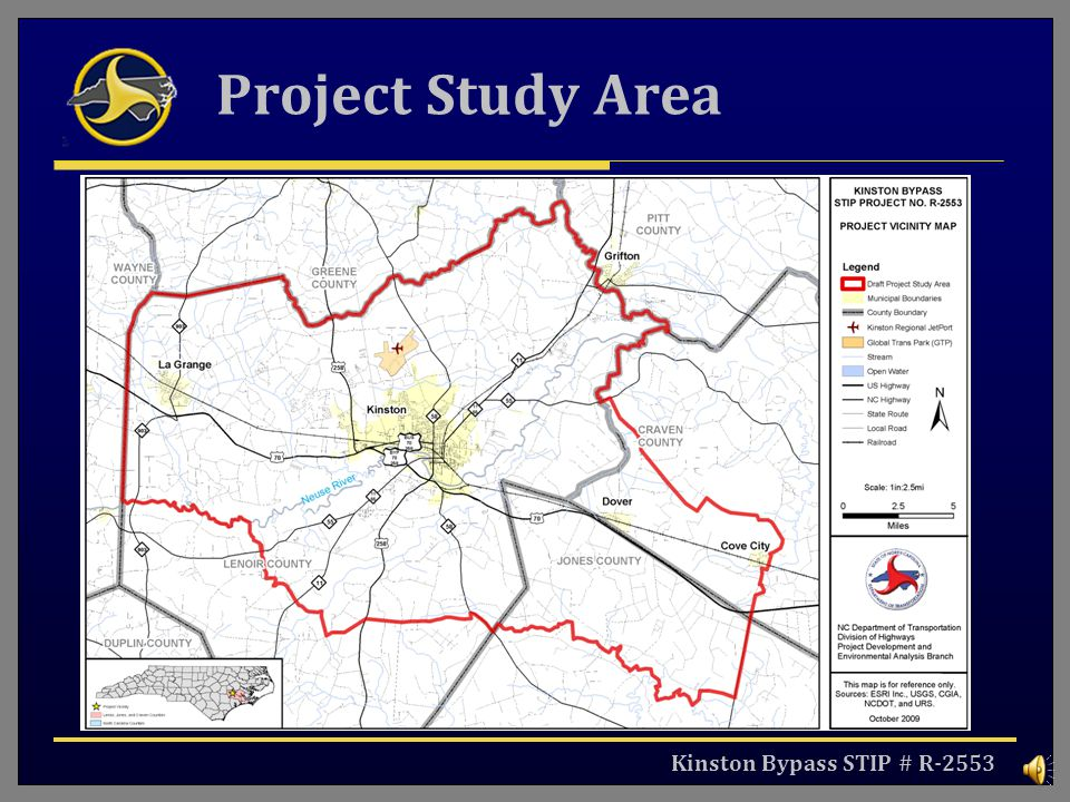 Project Study Area Kinston Bypass STIP # R-2553