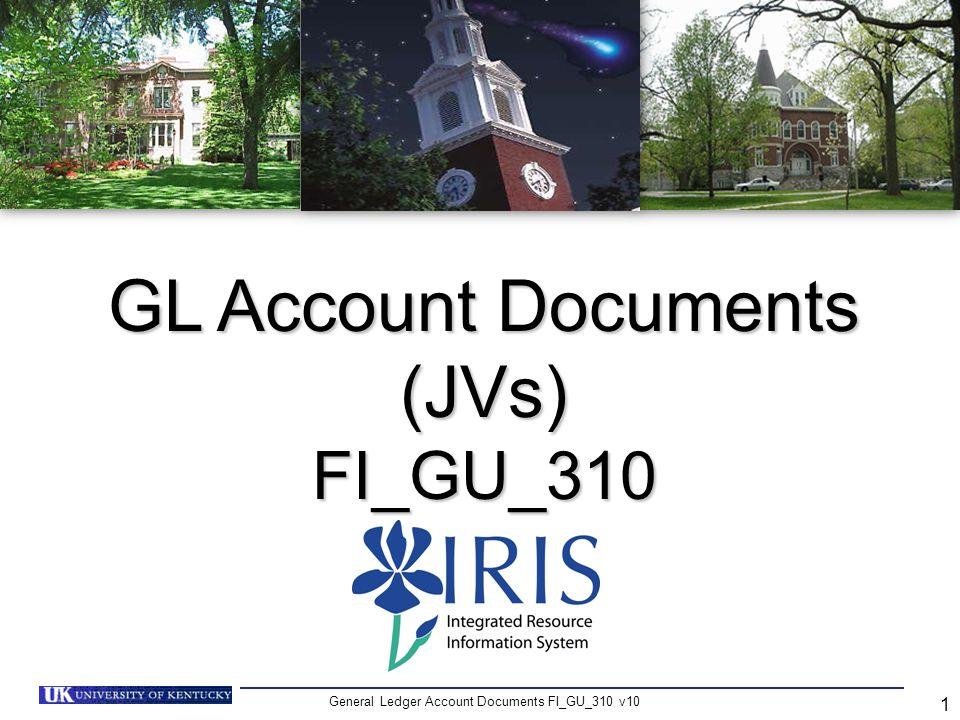 GL Account Documents (JVs)
