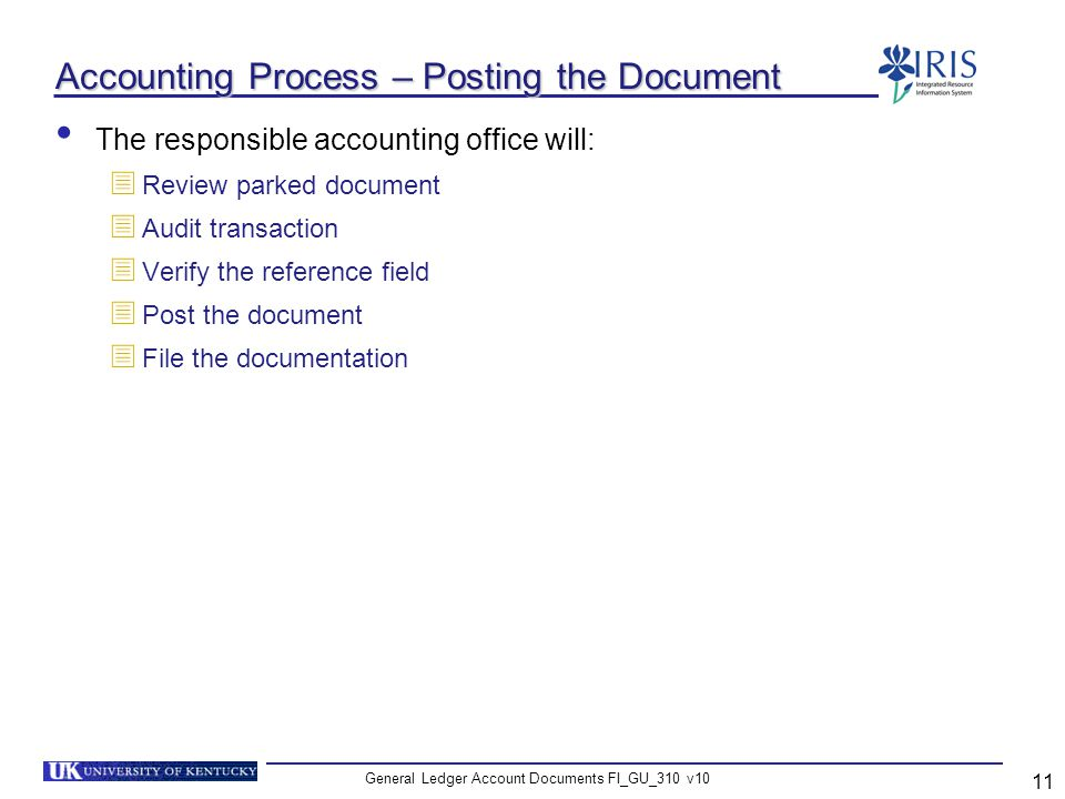 Accounting Process – Posting the Document