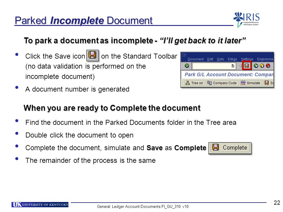Parked Incomplete Document