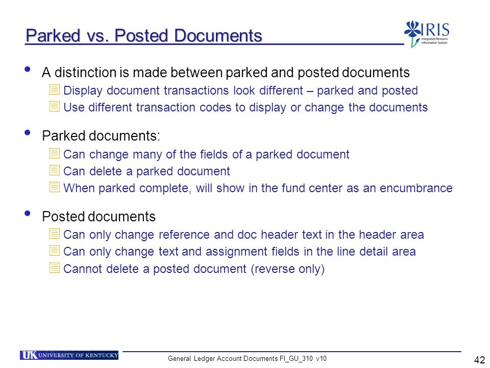 Parked vs. Posted Documents