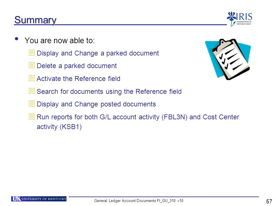 General Ledger Account Documents FI_GU_310 v10