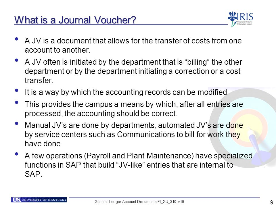 What is a Journal Voucher