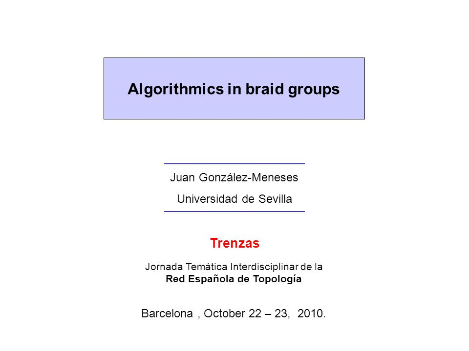 Algorithmics in braid groups