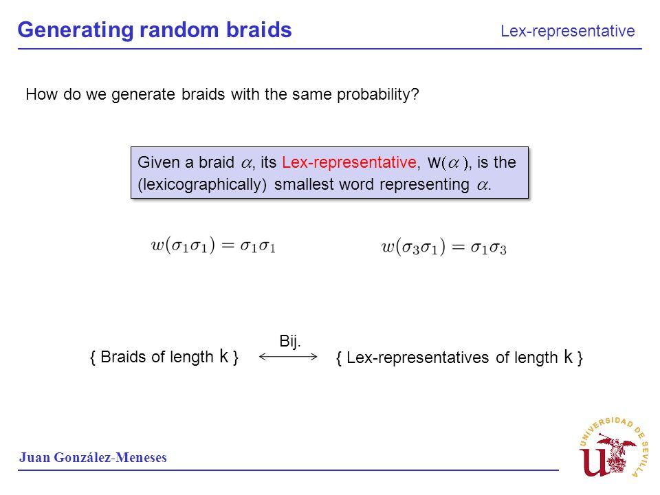 Generating random braids