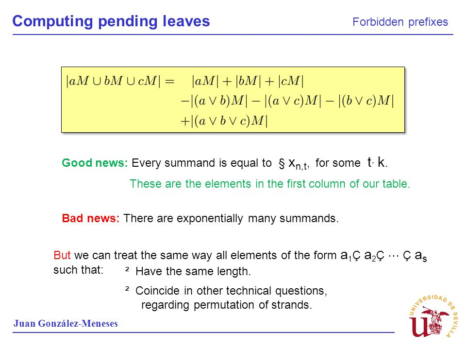 Computing pending leaves