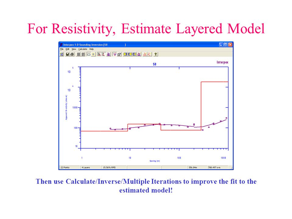 For Resistivity, Estimate Layered Model