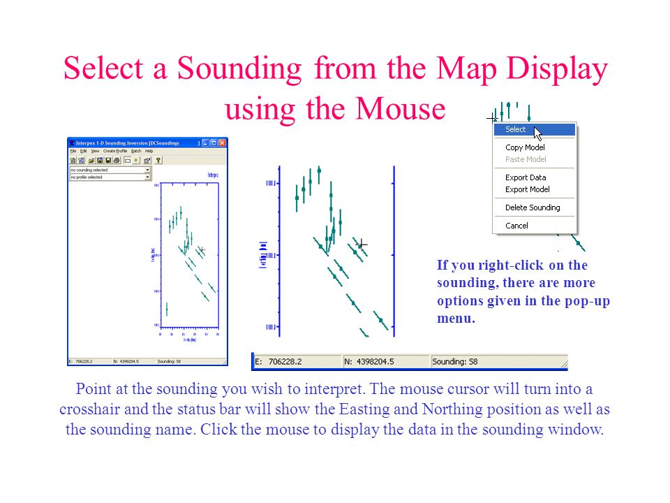Select a Sounding from the Map Display using the Mouse