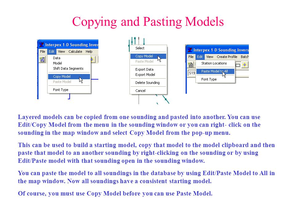 Copying and Pasting Models
