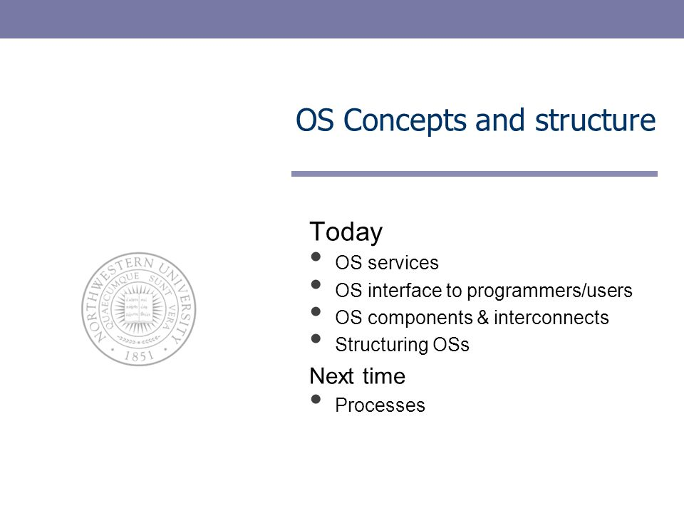 OS Concepts and structure