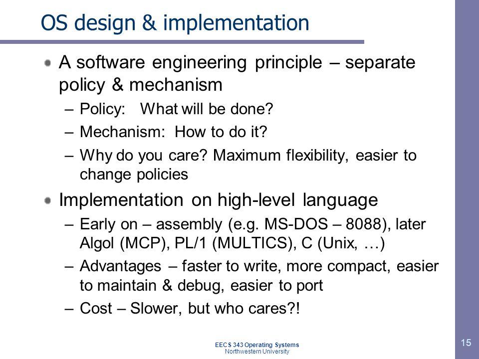 OS design & implementation