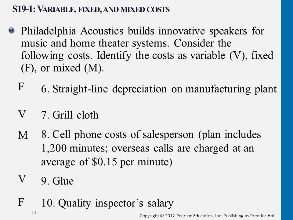 S19-1: Variable, fixed, and mixed costs