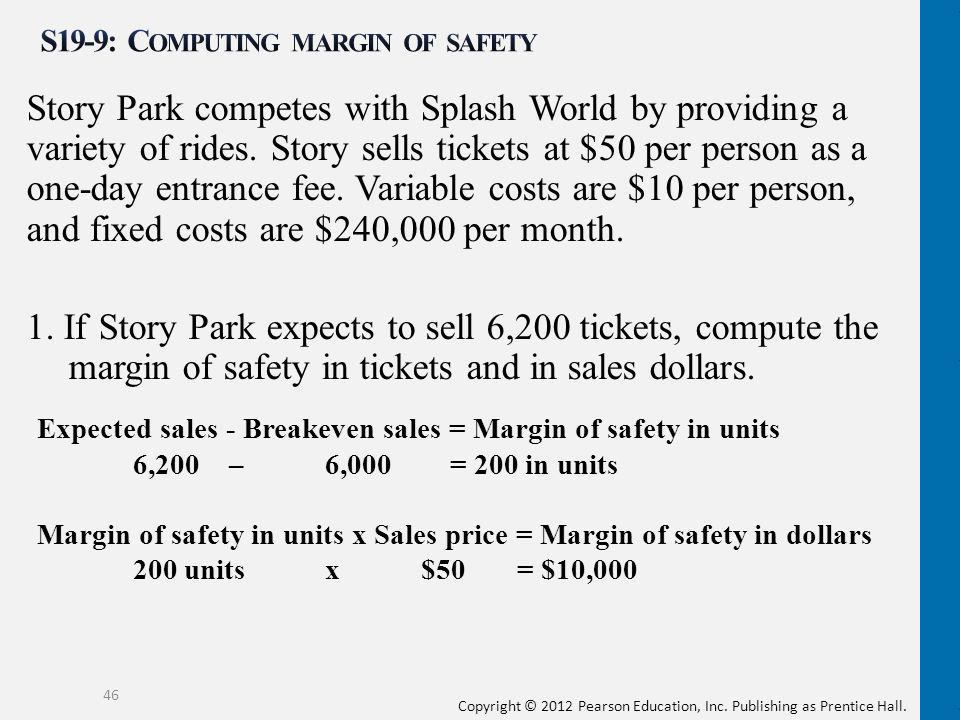 S19-9: Computing margin of safety