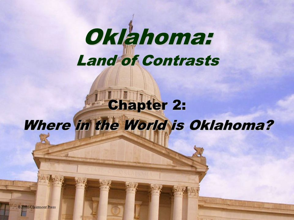 Chapter 2: Where in the World is Oklahoma