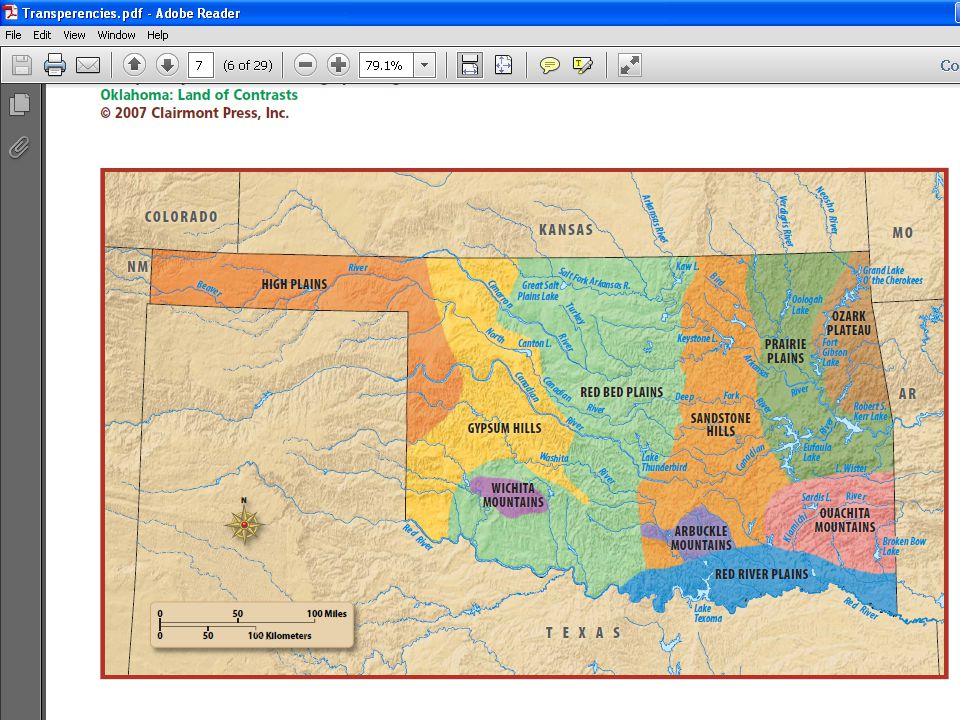 What two regions is Tulsa Located