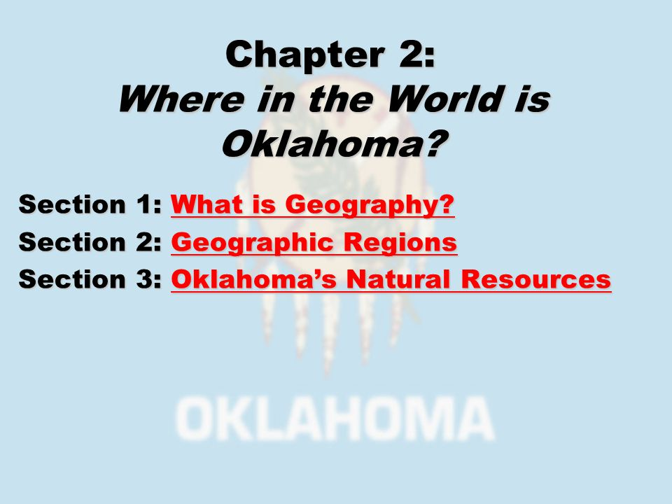 Section 1: What is Geography