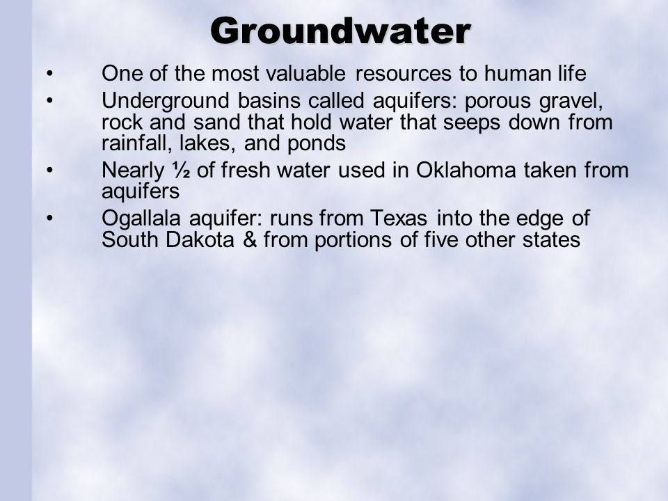 Waterways More than 500 rivers and streams or 78,578 miles; 34 major reservoirs.