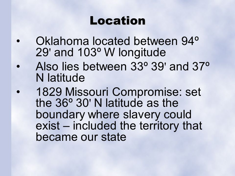Oklahoma Geography Statistics