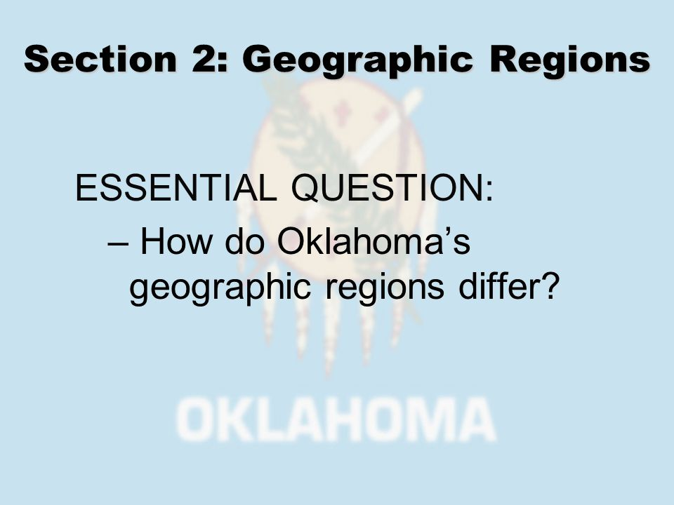 Geographic Regions High Plains Gypsum Hills Red Bed Plains
