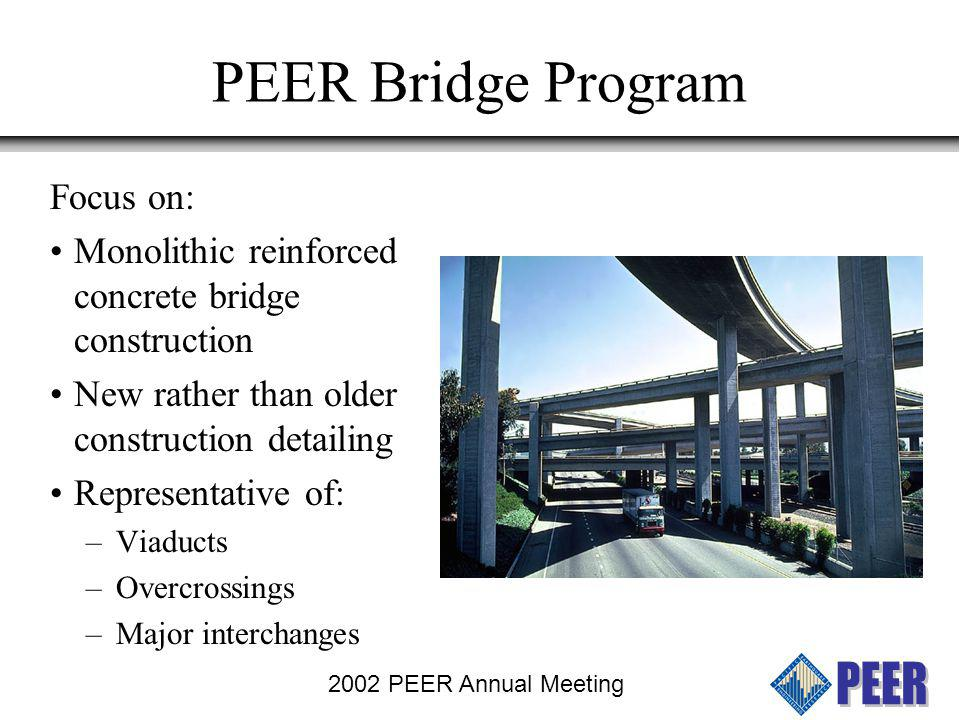 PEER Bridge Program Focus on: