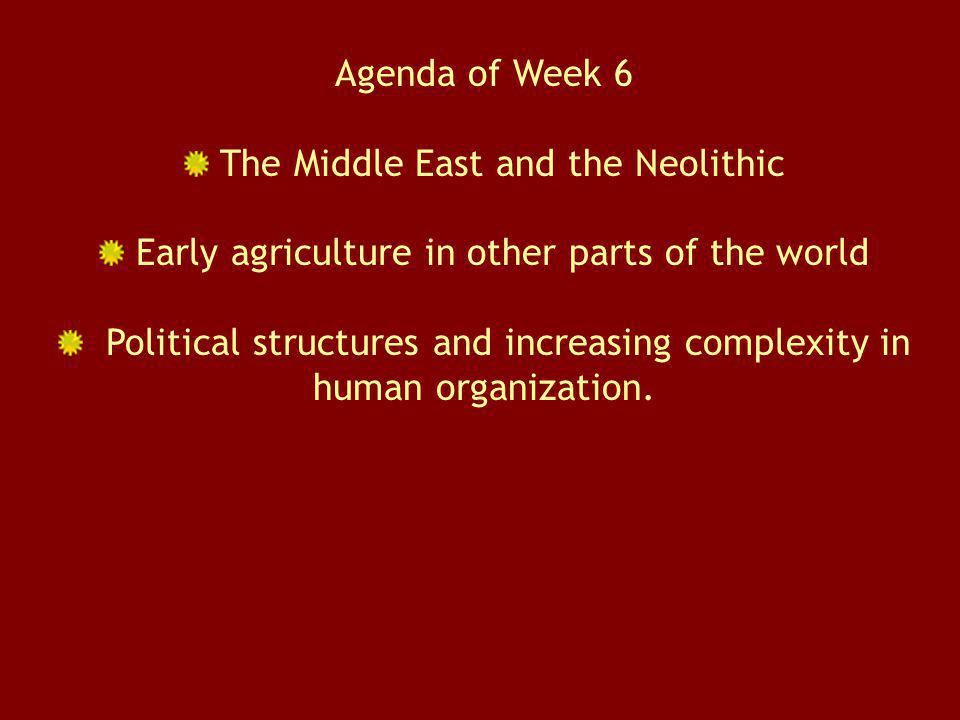 The Middle East and the Neolithic