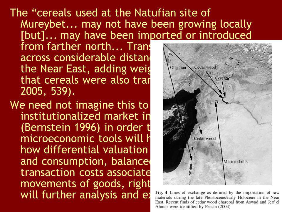 The cereals used at the Natufian site of Mureybet