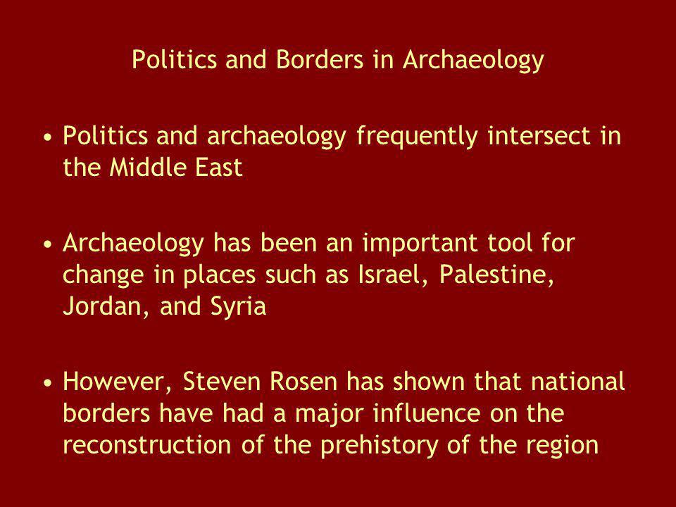 Politics and Borders in Archaeology