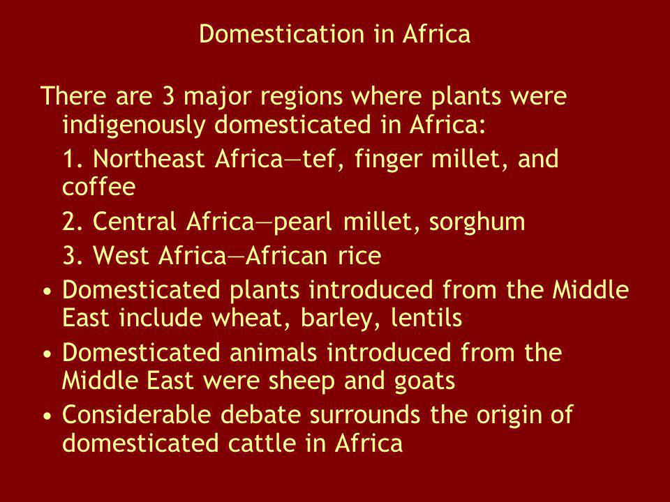 Domestication in Africa