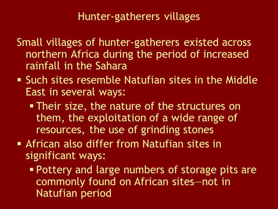 Hunter-gatherers villages
