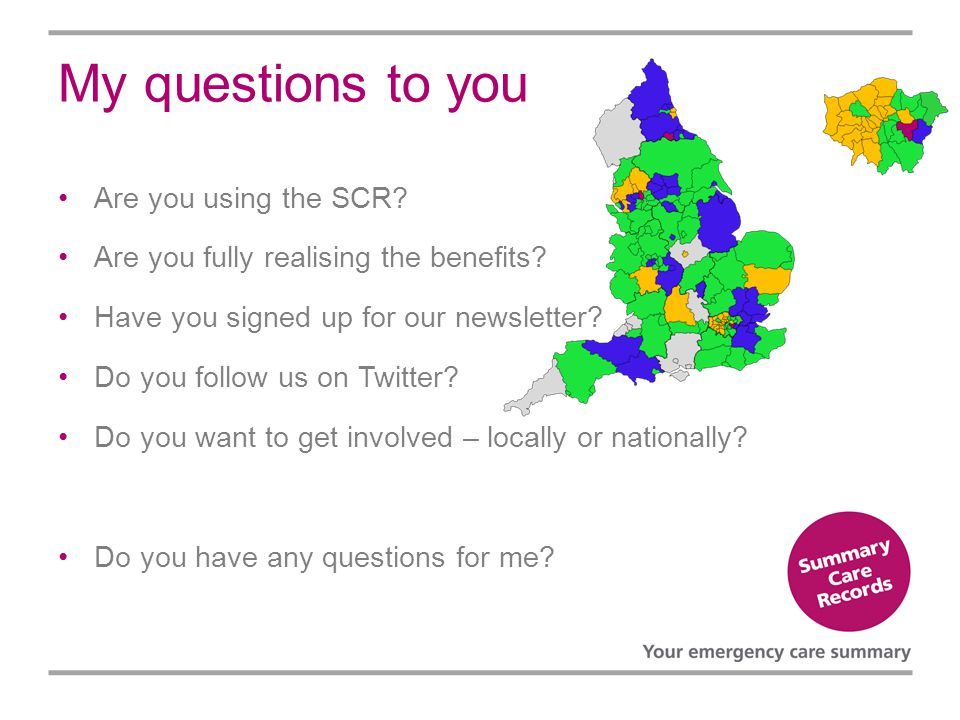 My questions to you Are you using the SCR