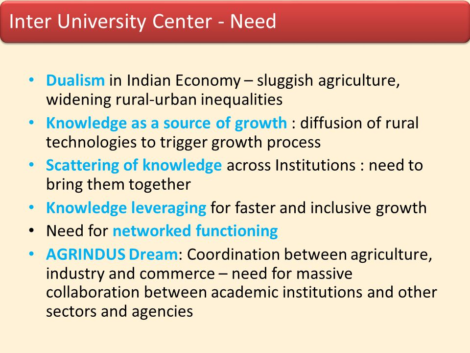 Knowledge leveraging for faster and inclusive growth