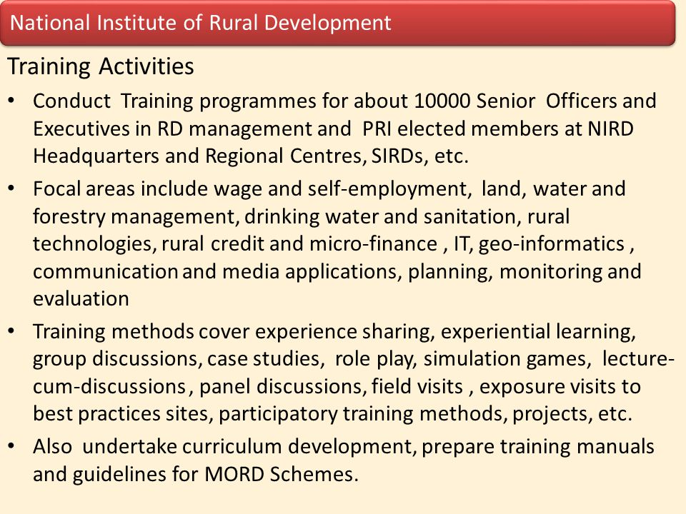 National Institute of Rural Development